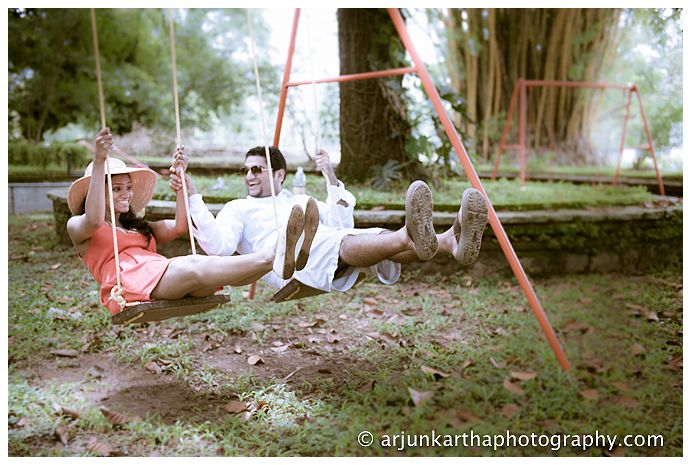 Sometimes it's easy to start off with simple things like having fun on a swing!