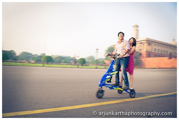 Anubha + Saahil. During their long courtship, they used to visit India Gate and go for long walks around Rajpath and Rashtrapati Bhawan in Delhi. I wanted to recreate some of the magic they found there.