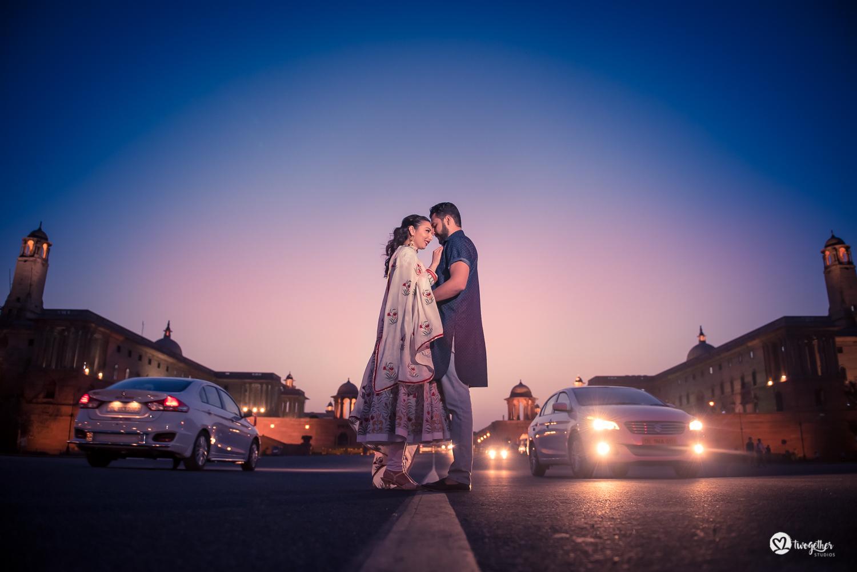Pre-wedding couple portrait shoot Delhi photography