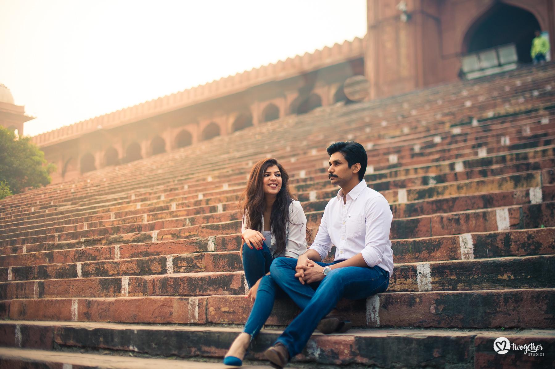 Chandni Chowk pre-wedding couple shoot
