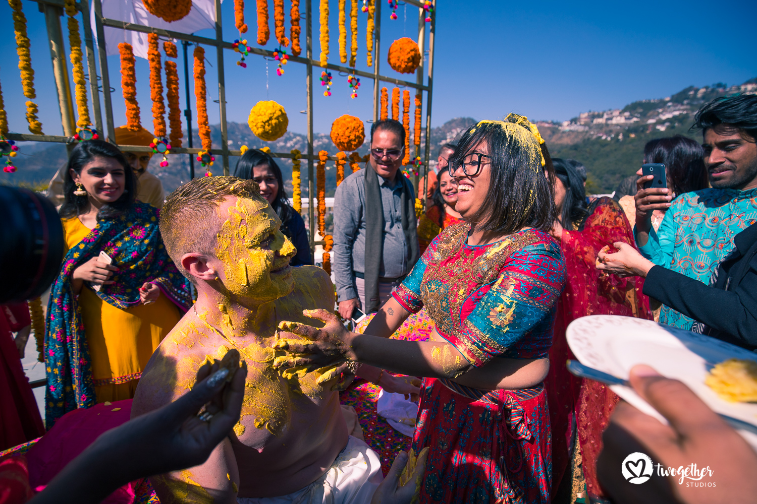 Wedding photography groom haldi Mussoorie