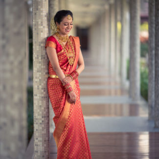 Wedding photography South Indian bridal portrait in Kochi