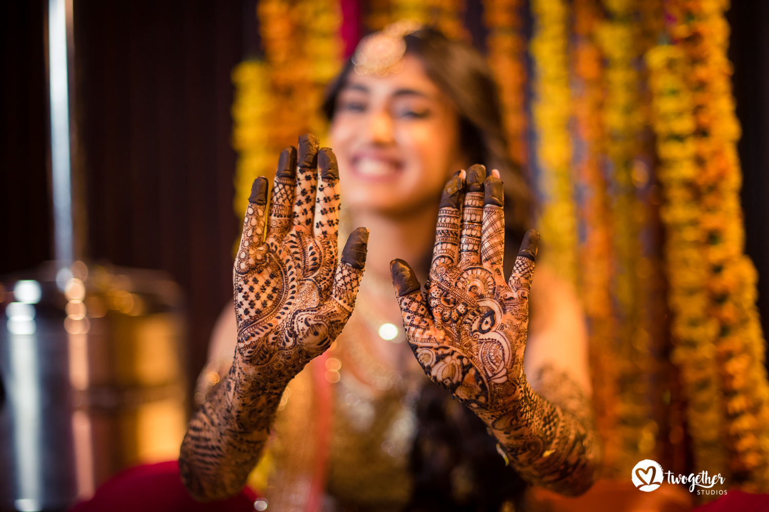 Indian bridal mehendi Twogether Studios