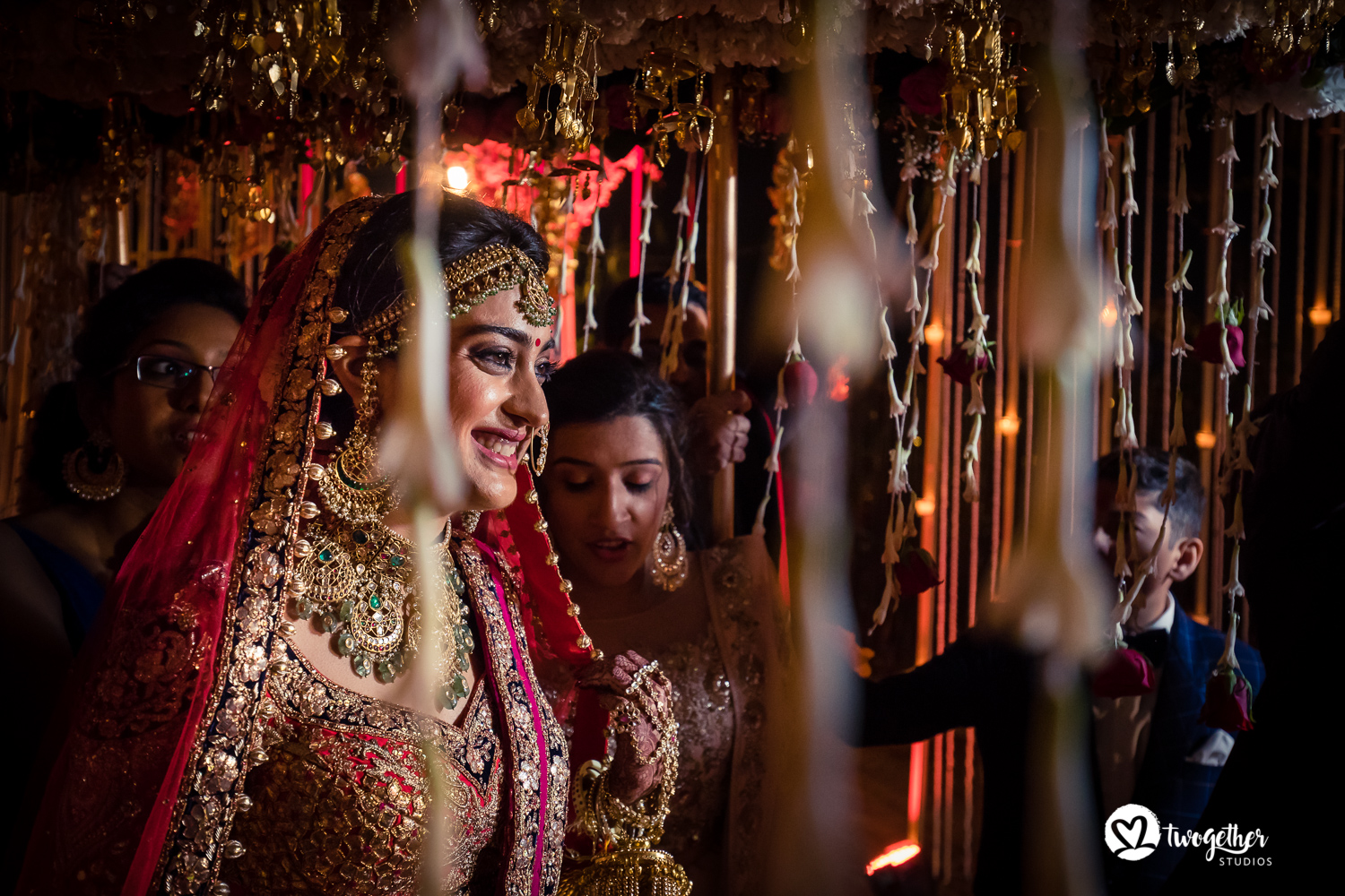 Bridal entry wedding photography