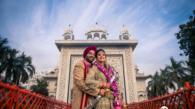 Sikh couple portrait wedding photography