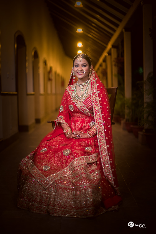 Indian bride portrait wedding photography Twogether Studios