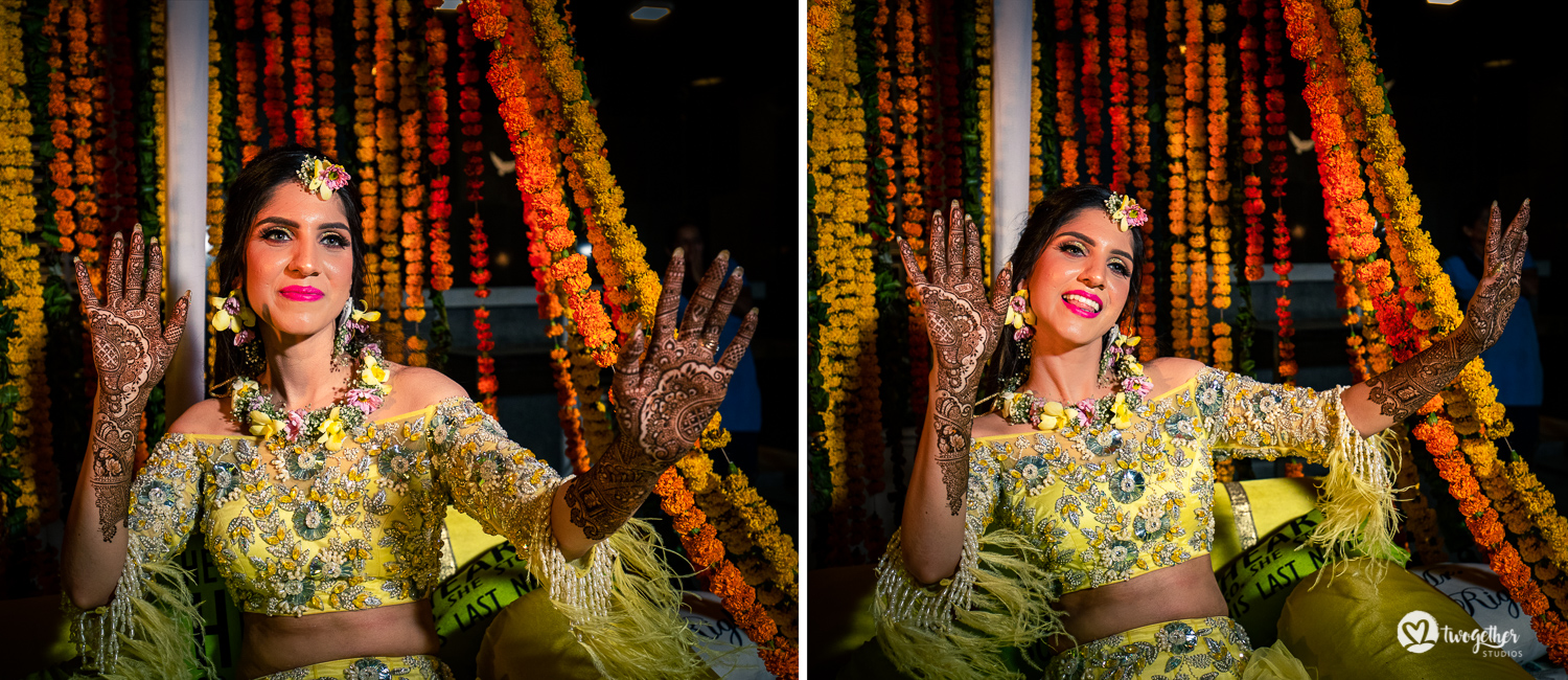Indian bride portrait at a Delhi wedding.