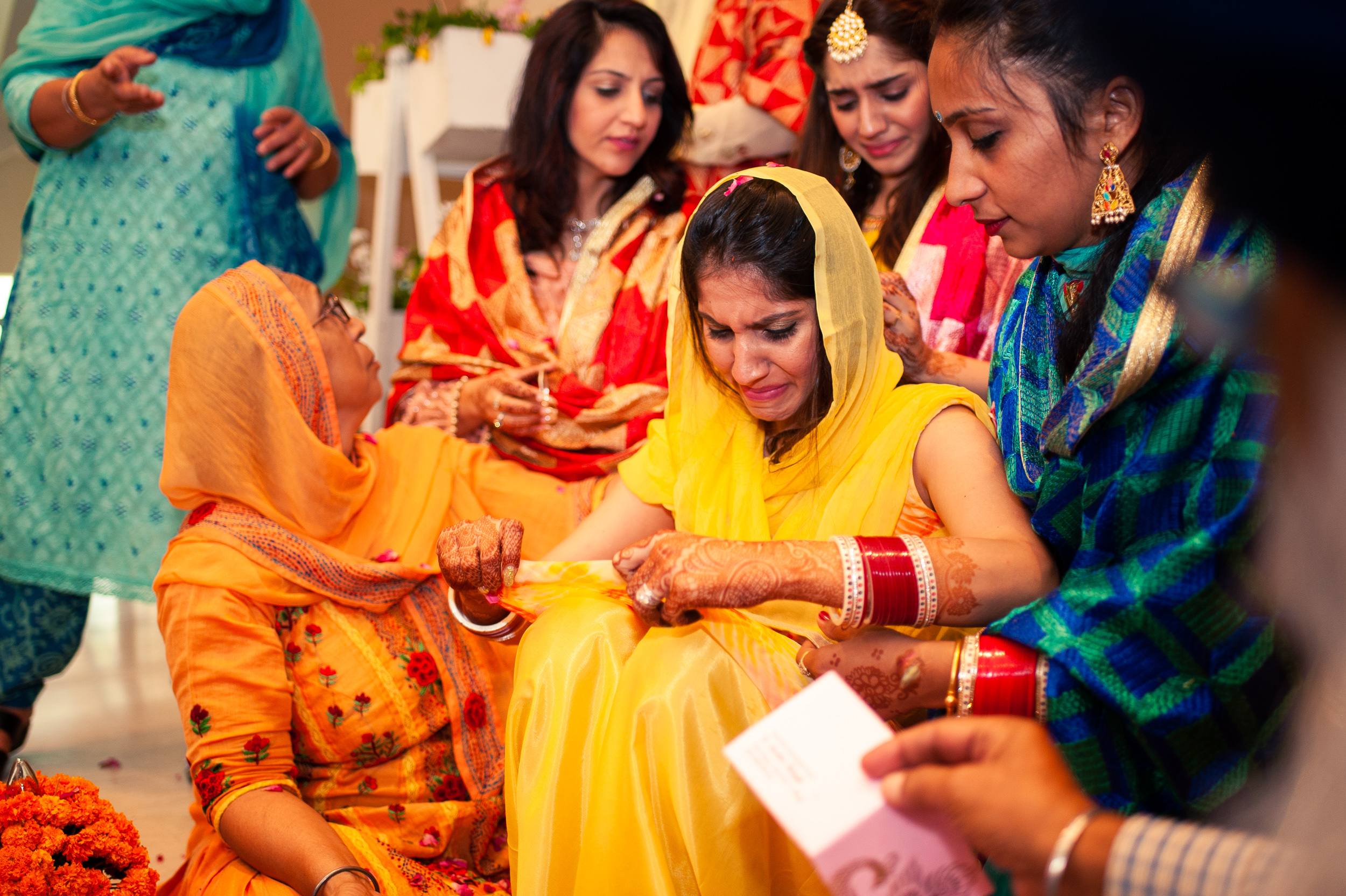 Bride haldi at a Delhi wedding.