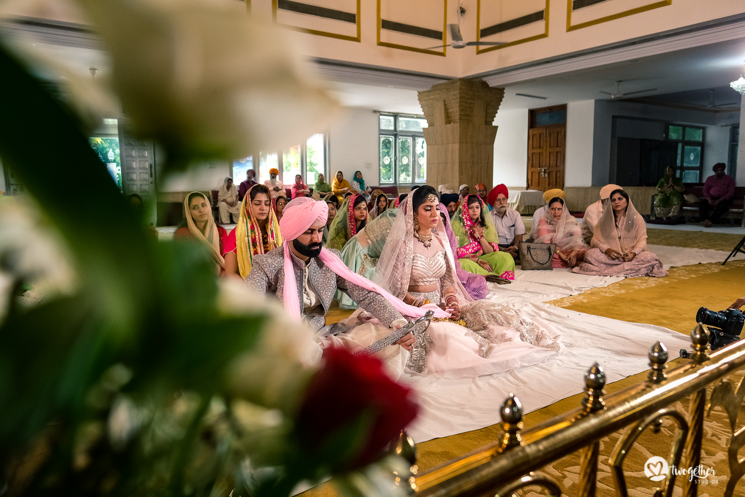 Gurudwara Delhi wedding in GK.