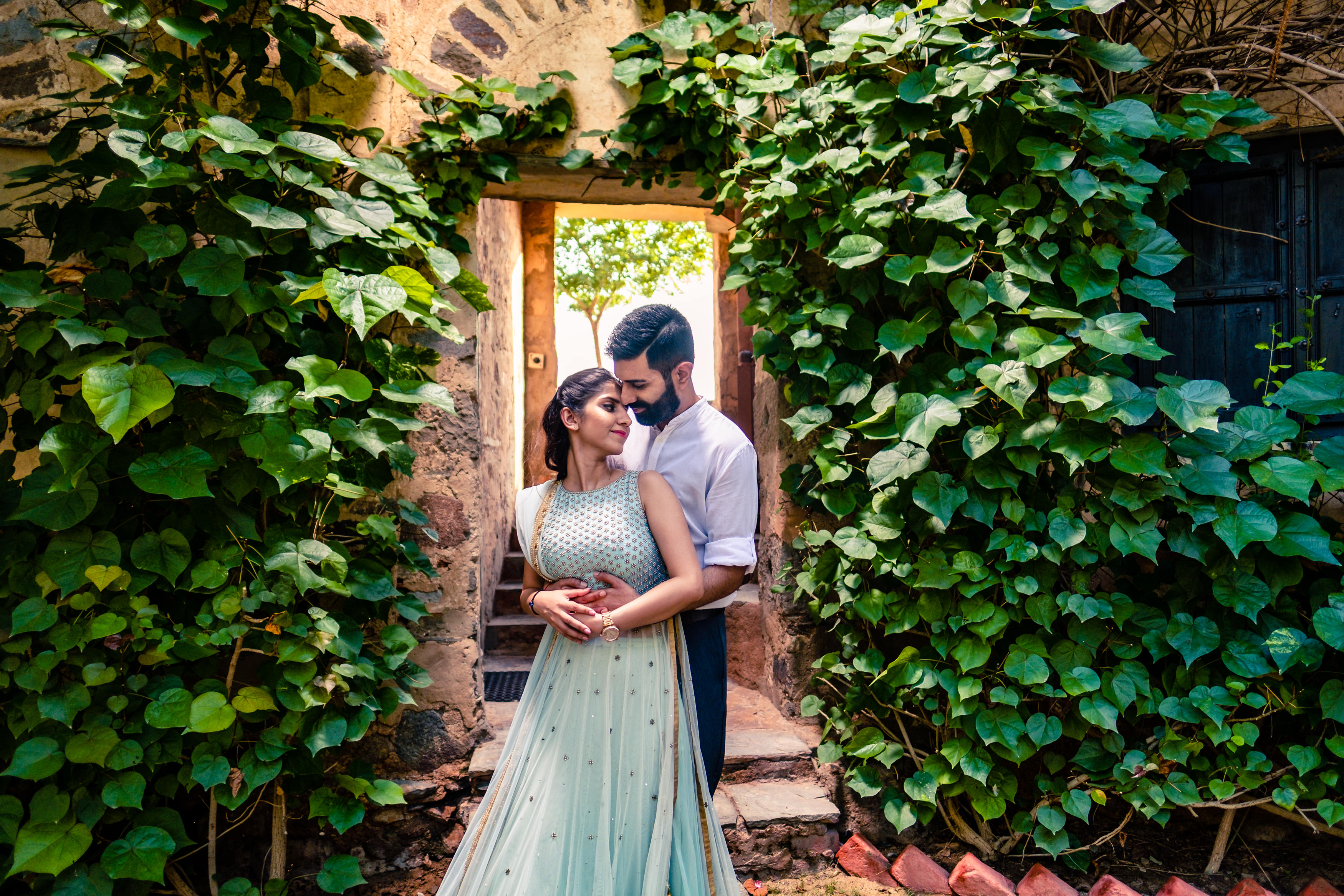 Neemrana pre-wedding couple shoot in India.