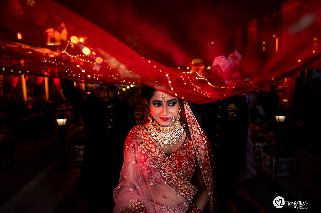 Indian bridal entry at Udaipur destination wedding