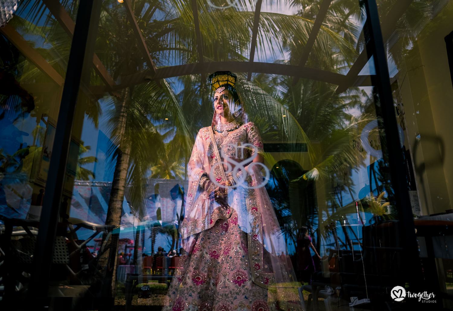 Indian bridal photo wearing Sabyasachi lehenga Kenya destination wedding