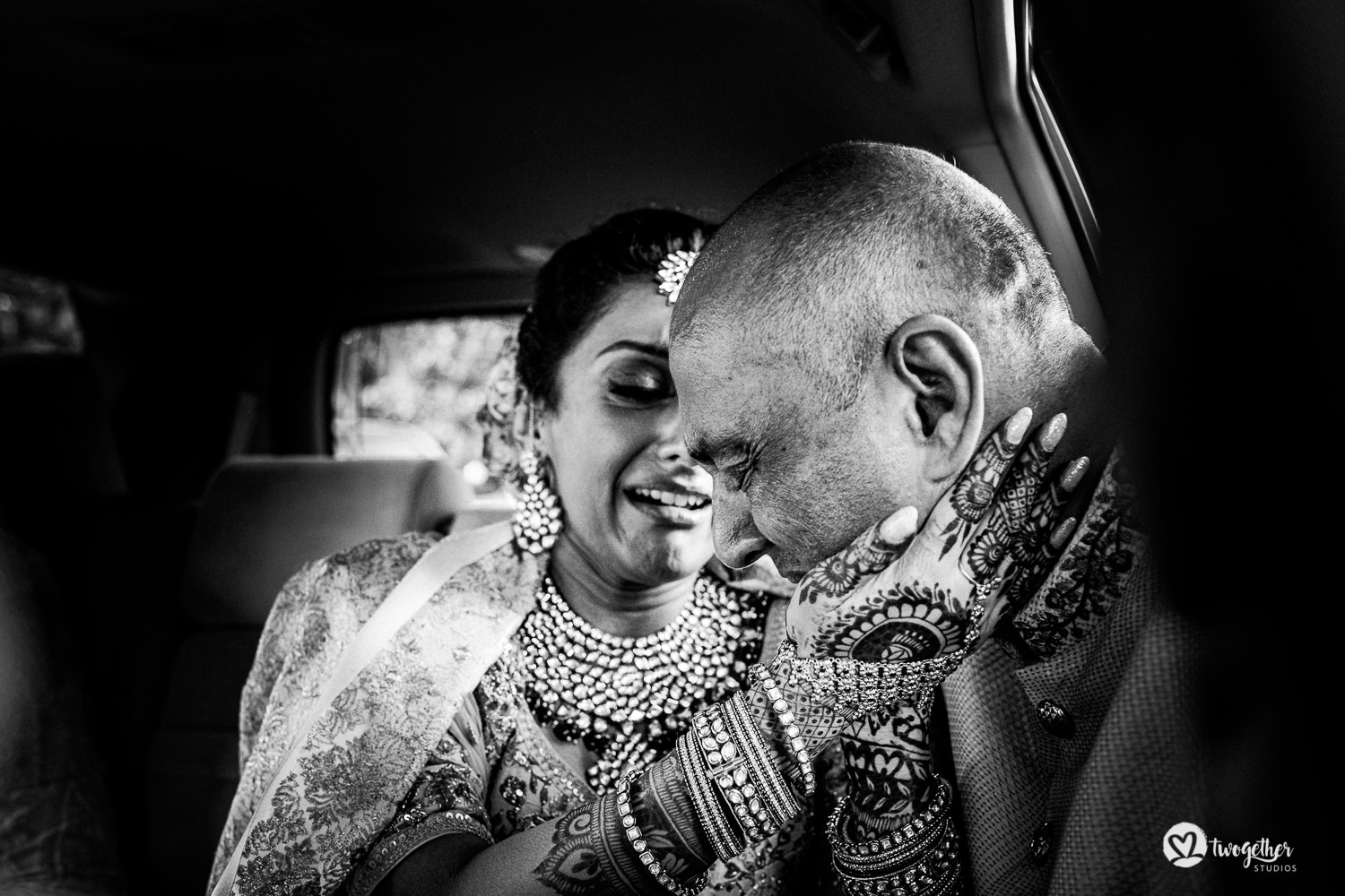 Indian bride cries as she bids her father farewell at a Kenya destination wedding