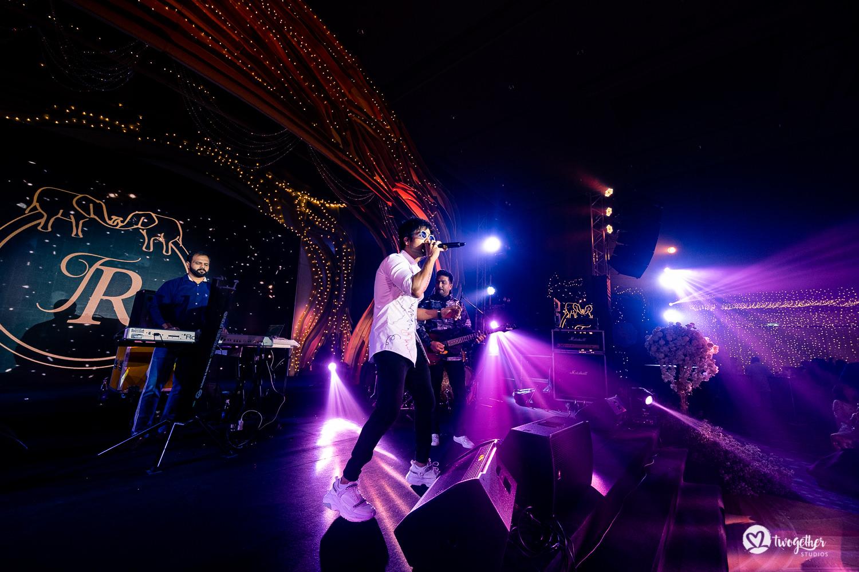 Hardy Sandhu performing at Bangkok destination wedding.
