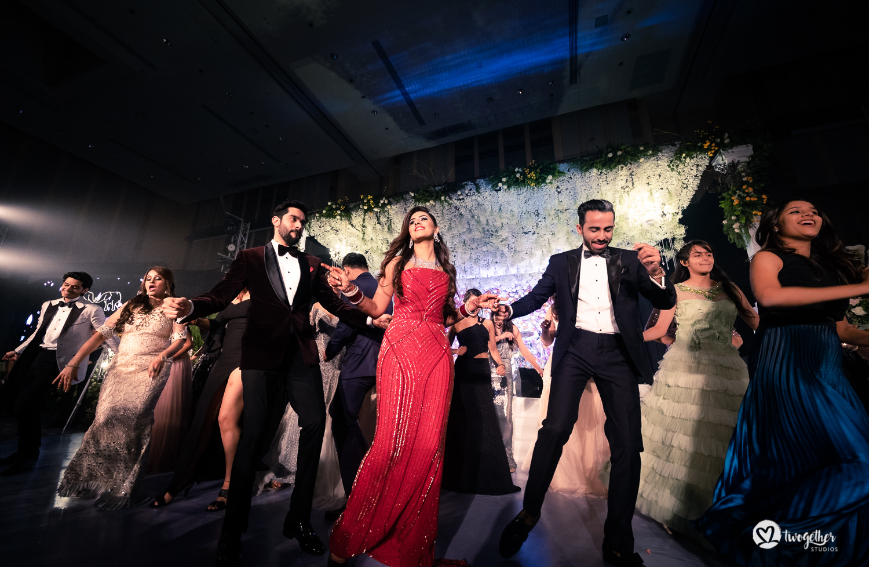 Indian couple dance at Bangkok destination wedding.