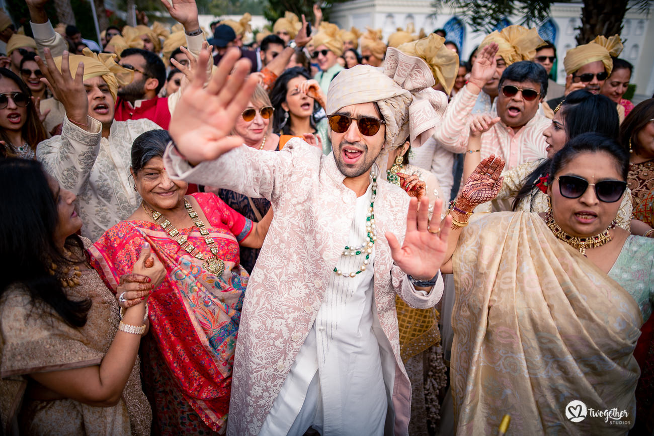 Indian baraat in jaipur destination wedding
