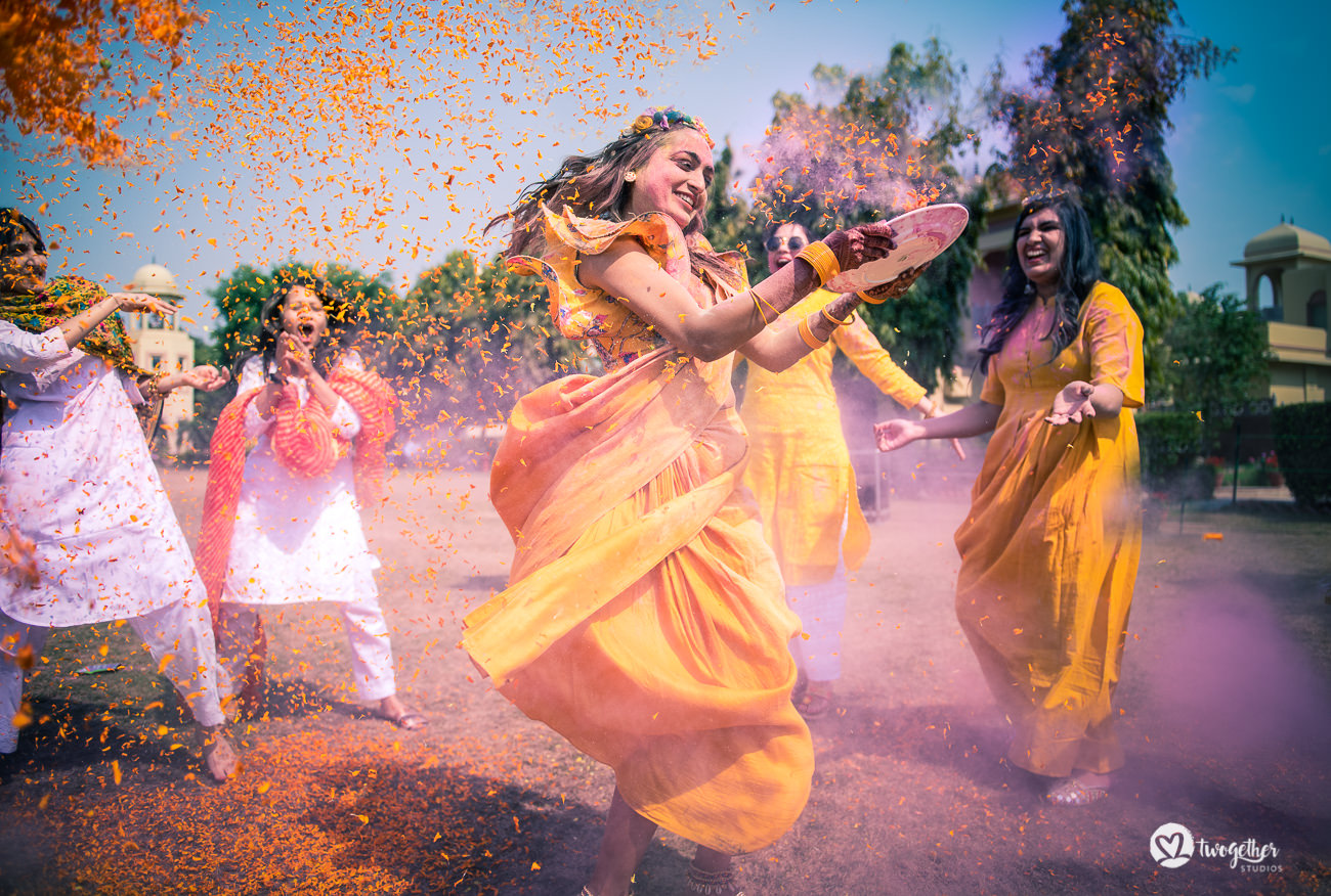 Bridal haldi Indian wedding