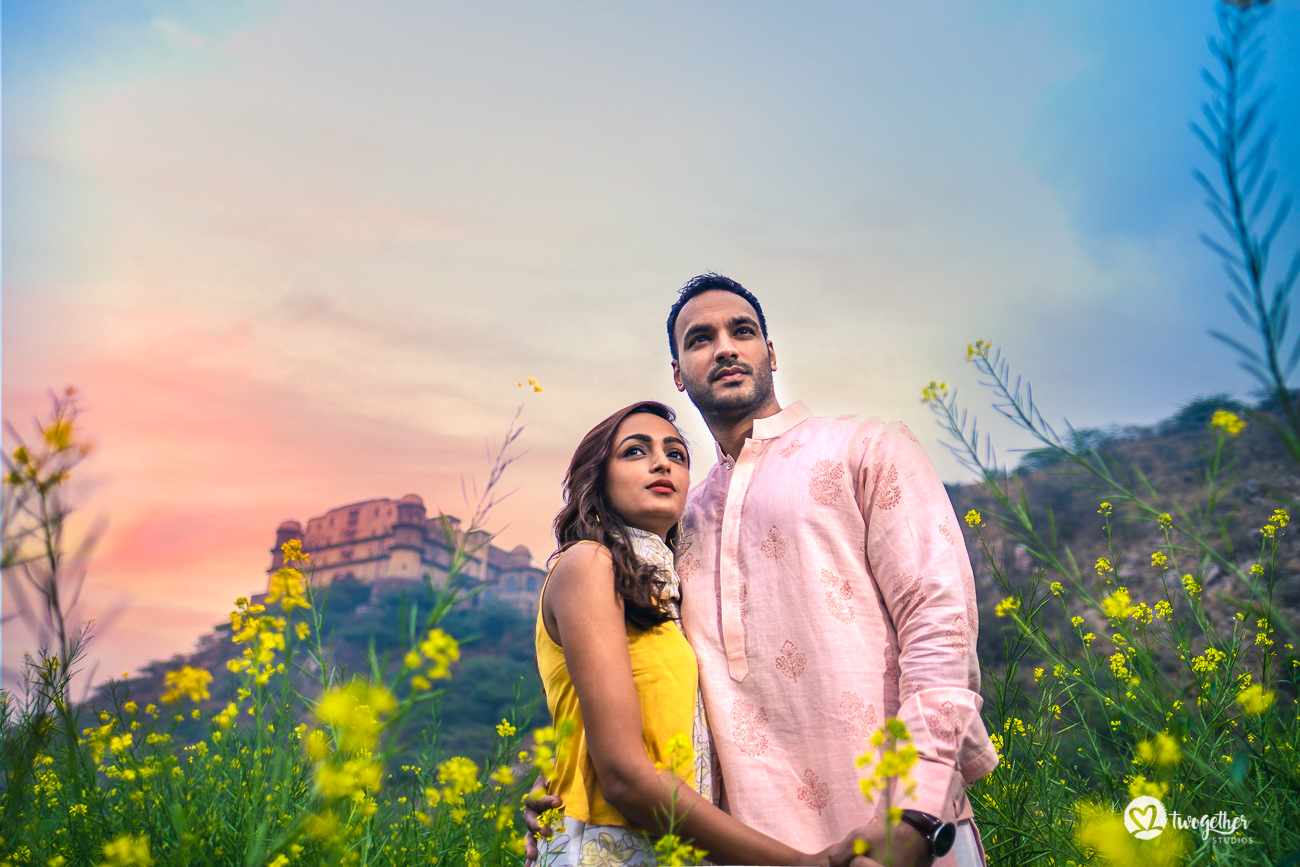 Prewedding couple shoot in Neemrana Tijara