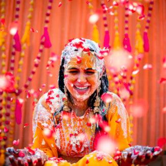 Goa destinaton casamento noiva haldi retrato