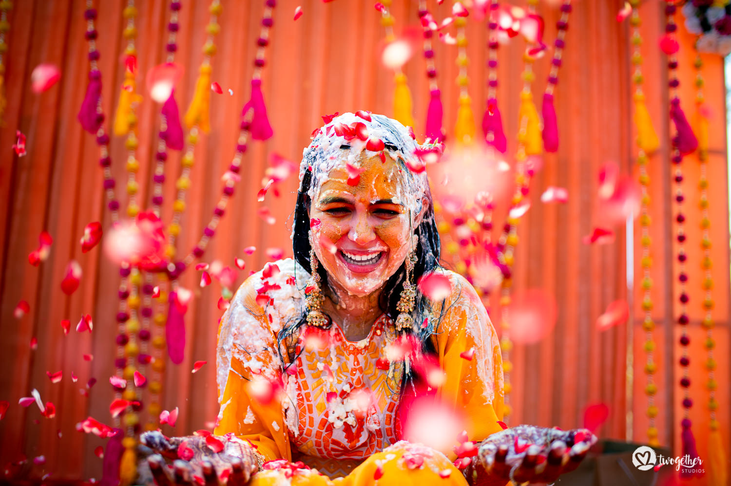 Goa destinaton wedding bride haldi portrait