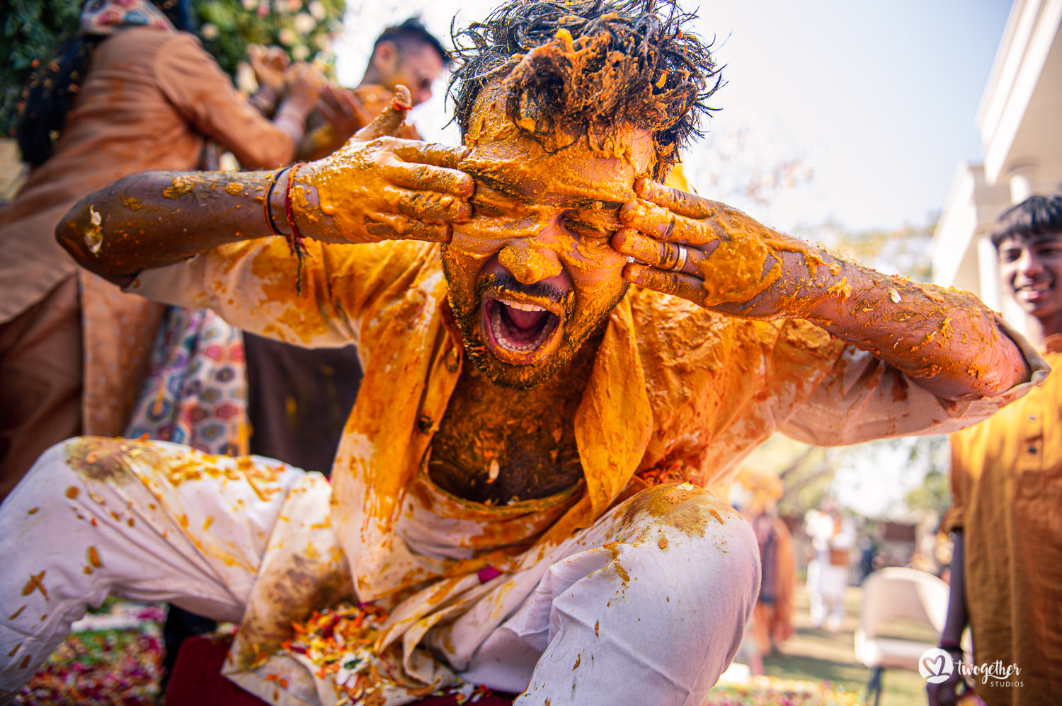Groom haldi ceremony in Delhi