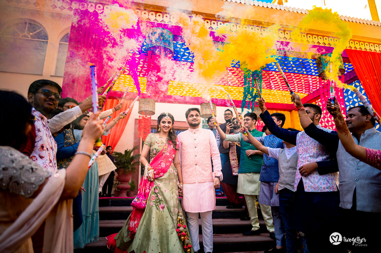 Couple entry in Jaipur destination wedding.
