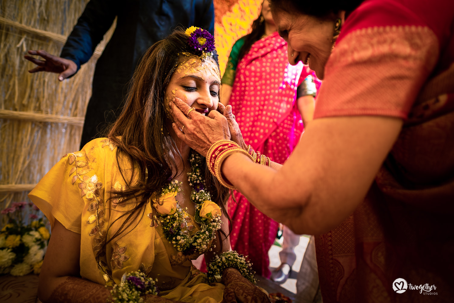 Bride haldi at a Jaipur destination wedding.