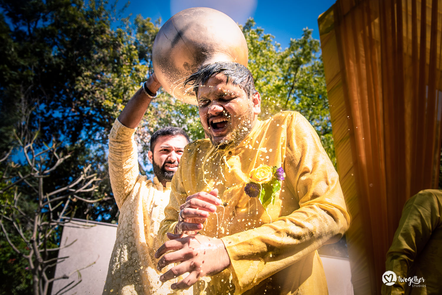 Groom haldi at a Jaipur destination wedding.