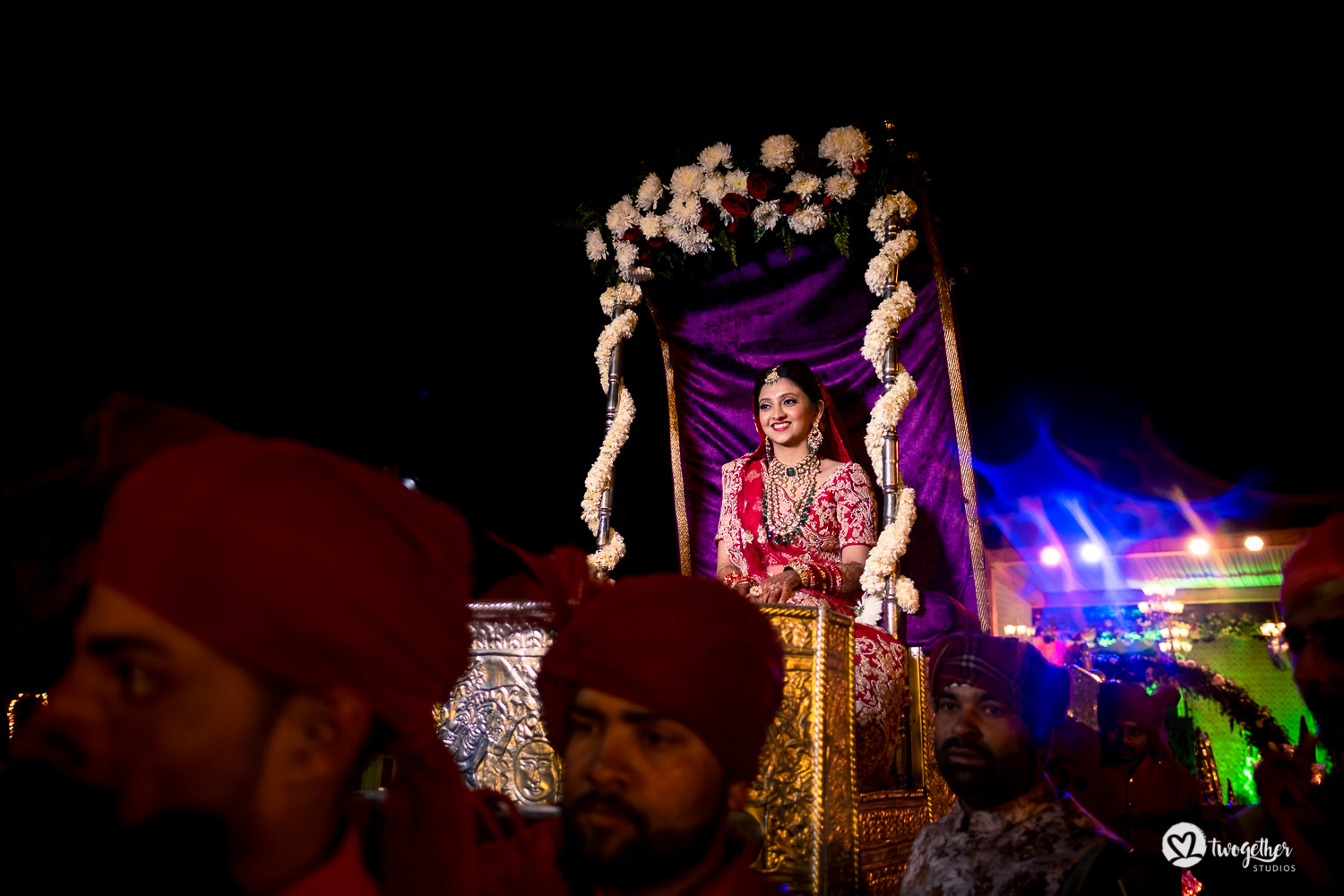 Indian bridal entry at a Jaipur destination wedding.