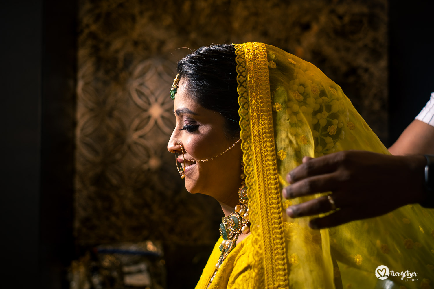 Indian bride in Sabyasachi lehenga wedding shoot