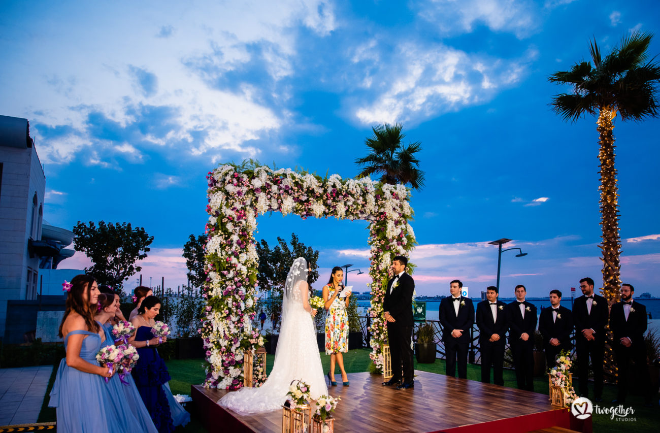 A beautiful wedding ceremony at Dubai destination wedding.