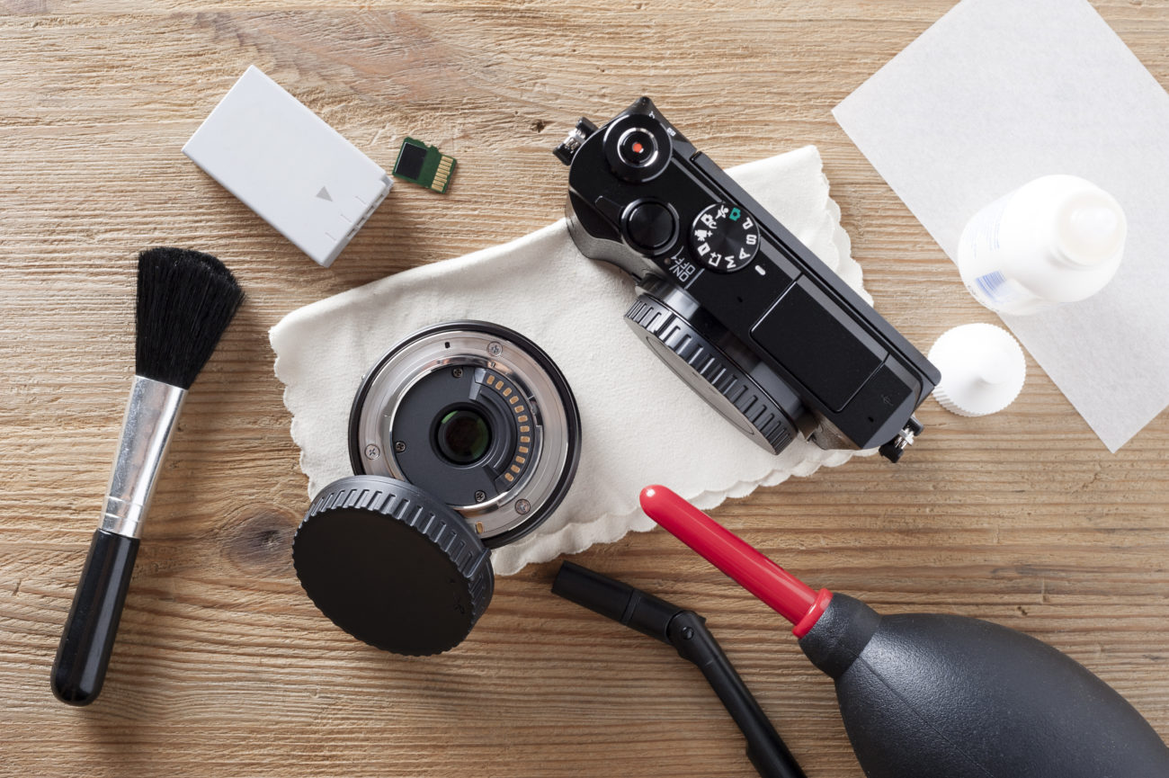 Cleaning camera gear