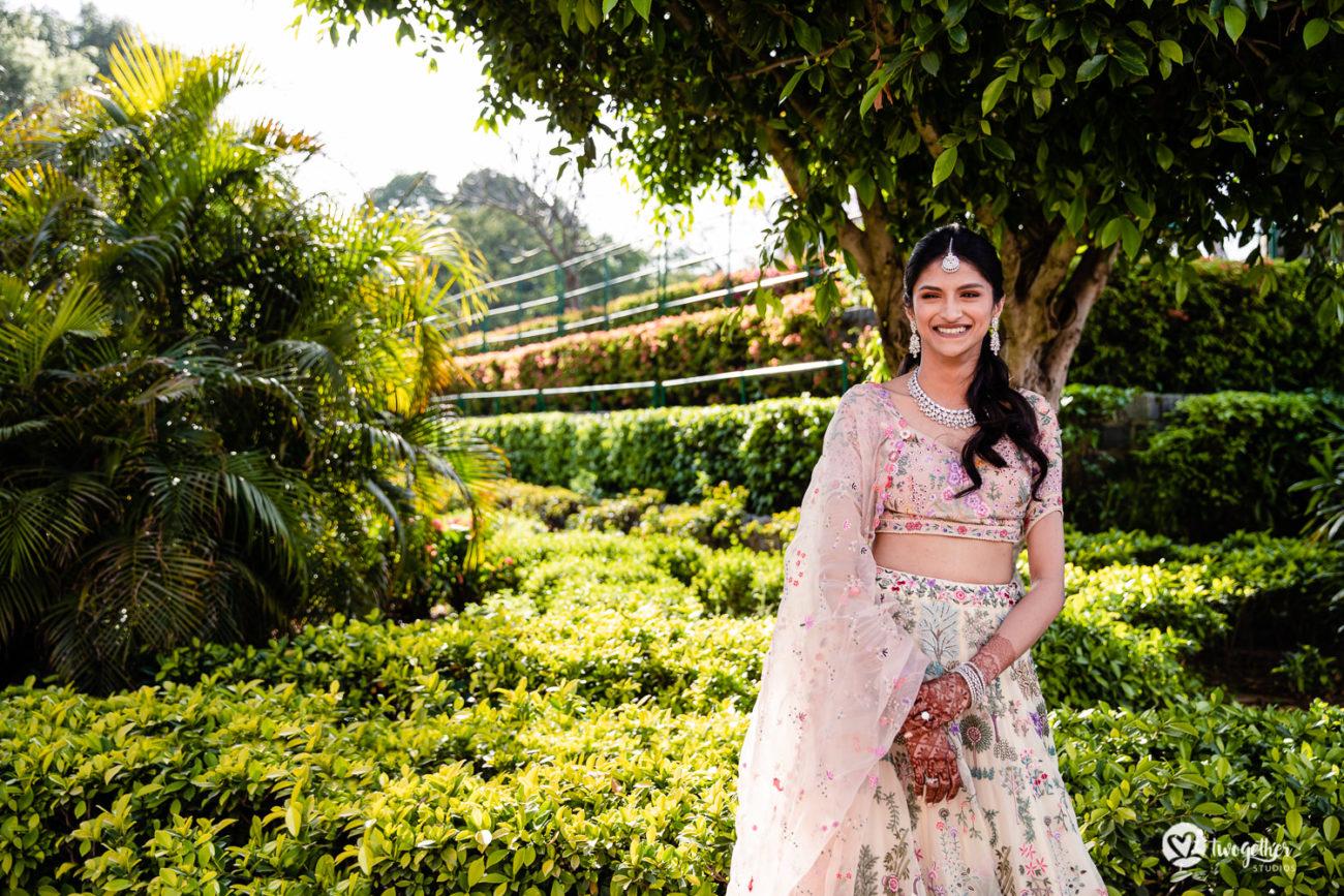 ITC Maurya wedding bridal portait.