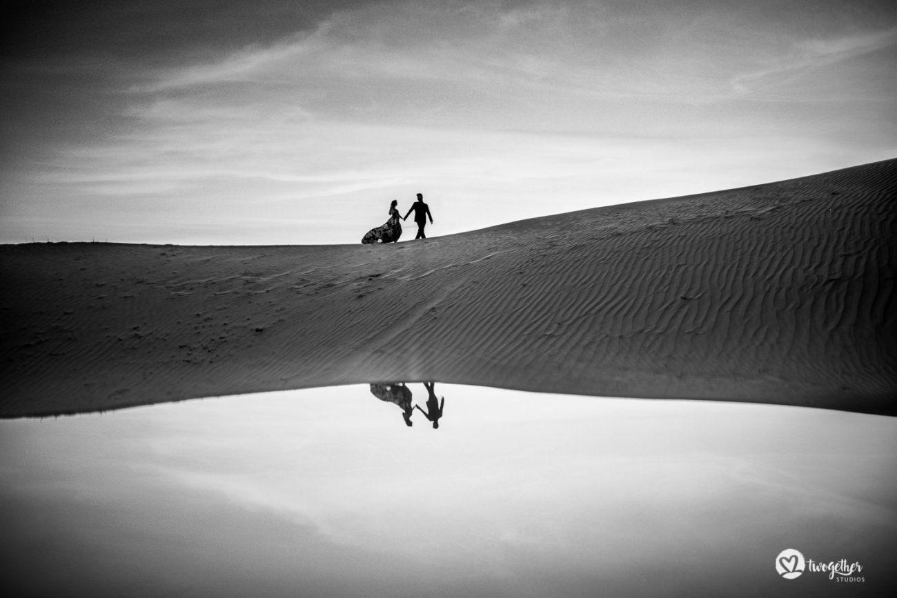 Khimsar desert destination pre-wedding couple shoot.