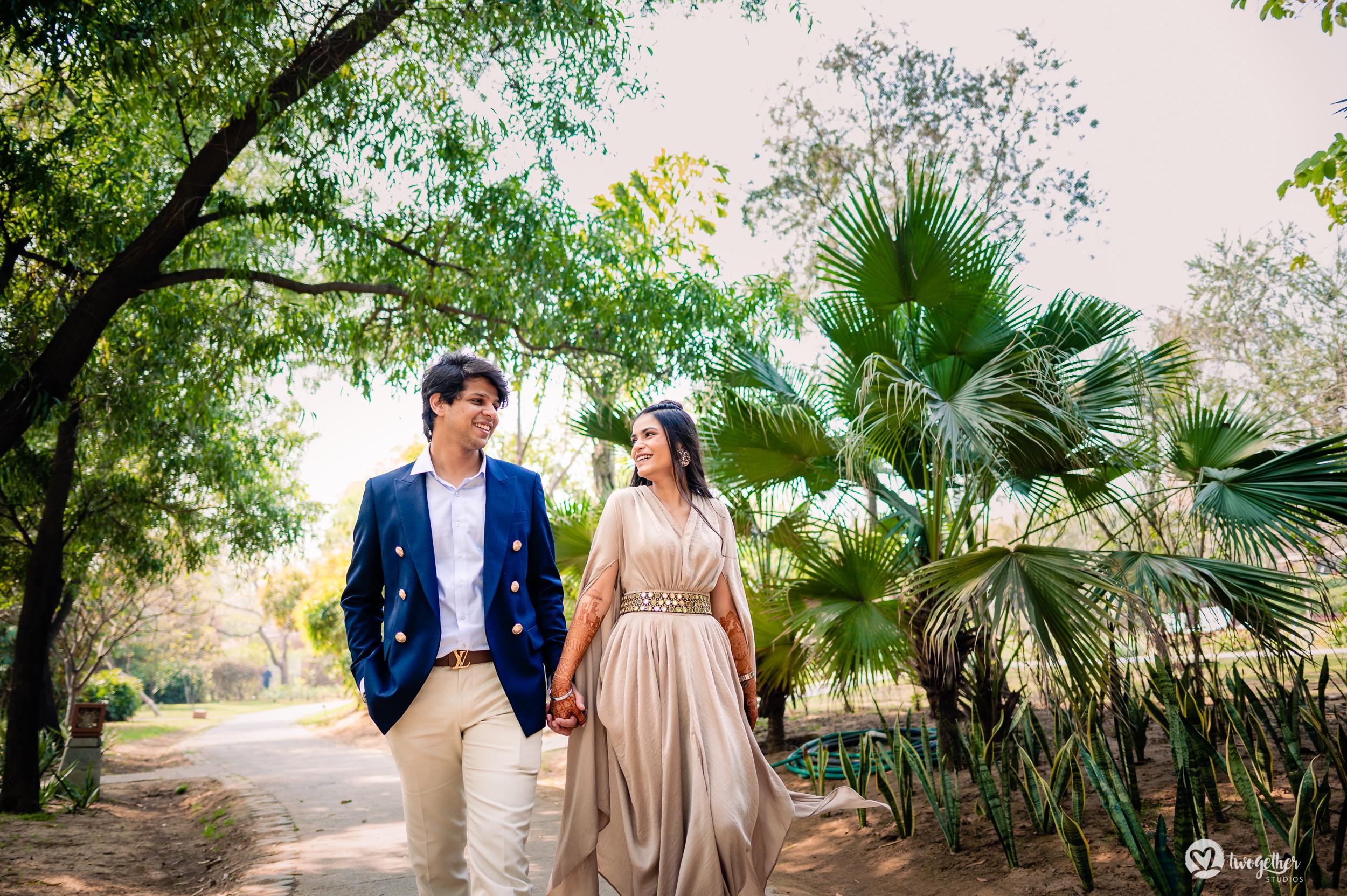 Westin Sohna prewedding couple portrait.