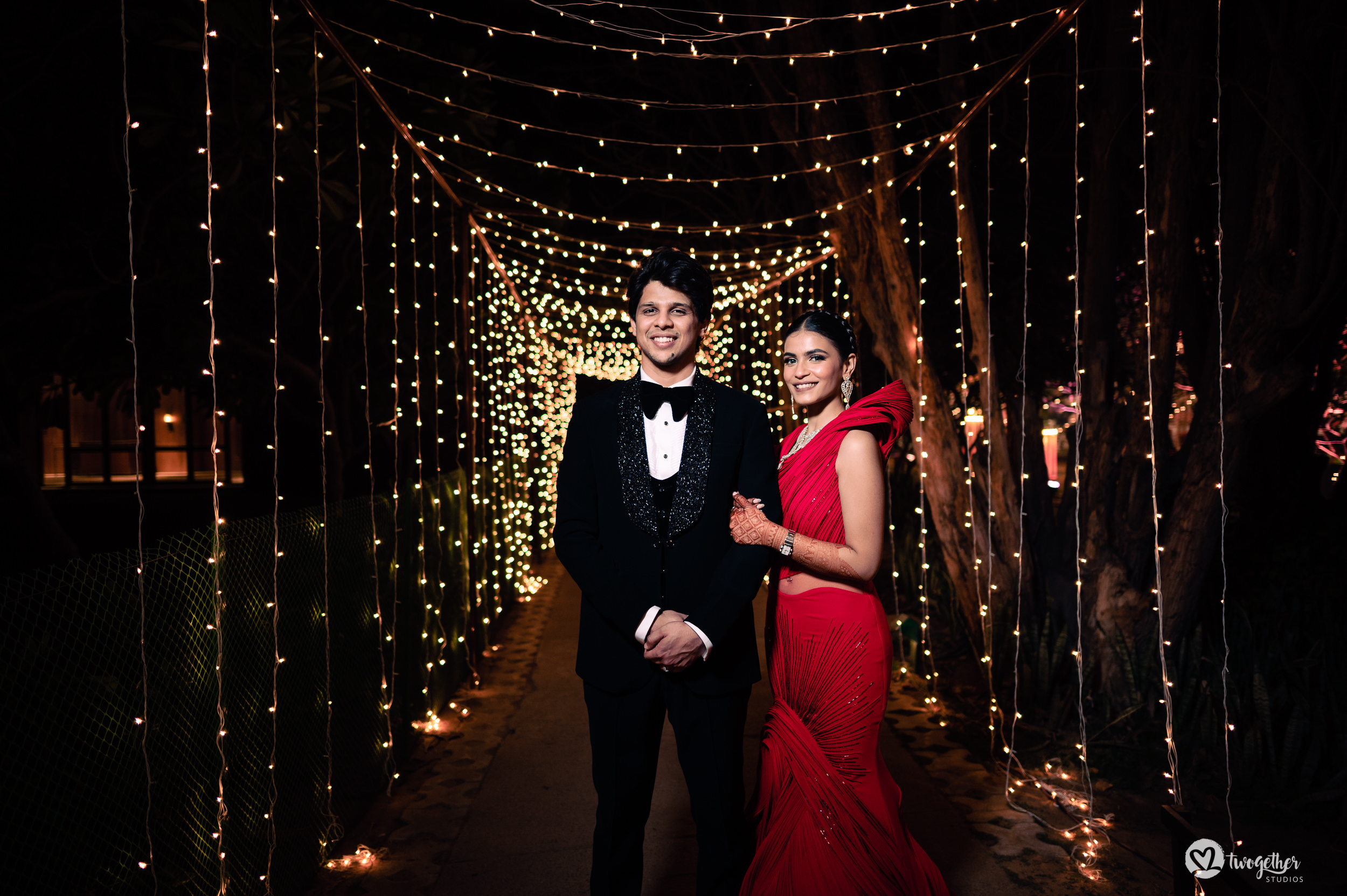 Couple portrait at an Indian wedding in Westin Sohna.