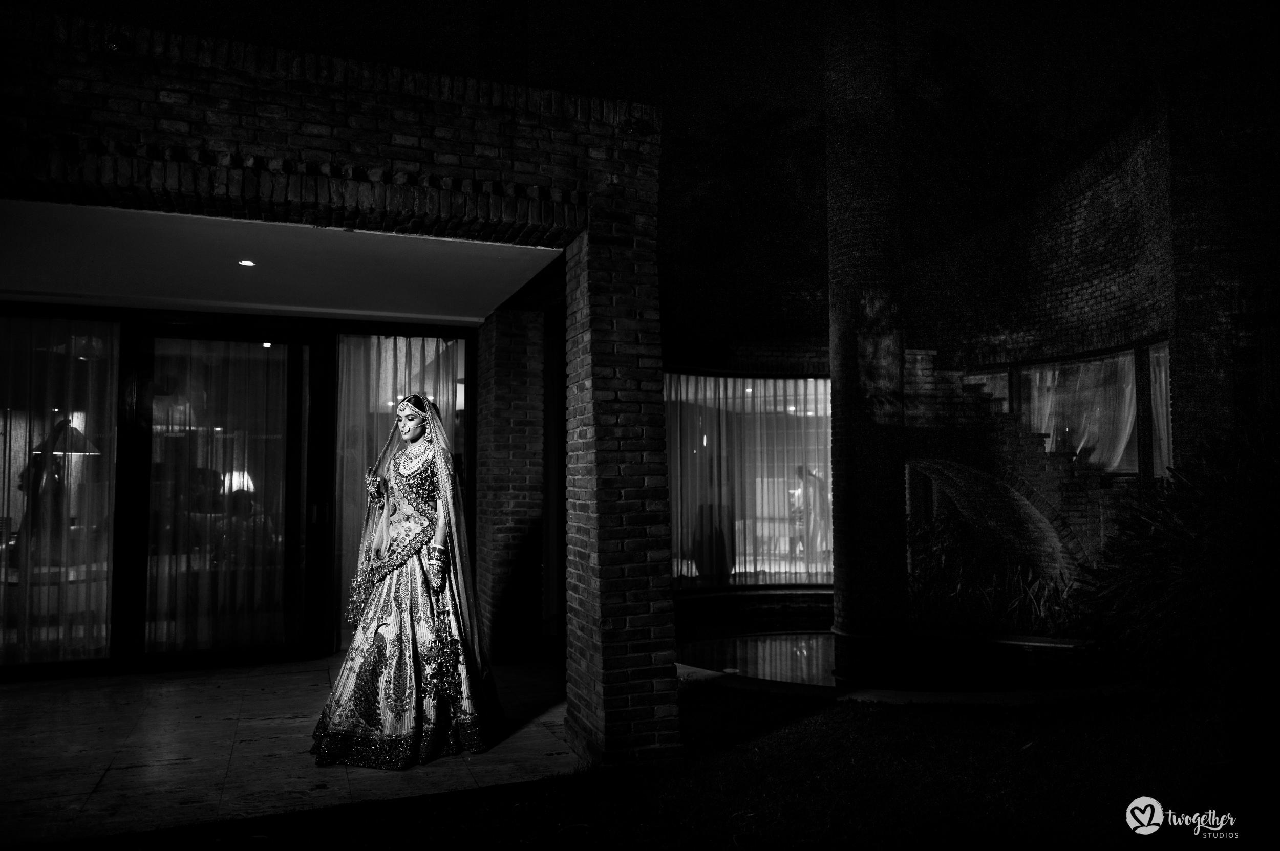 Bride portrait at Indian wedding in Westin Sohna.