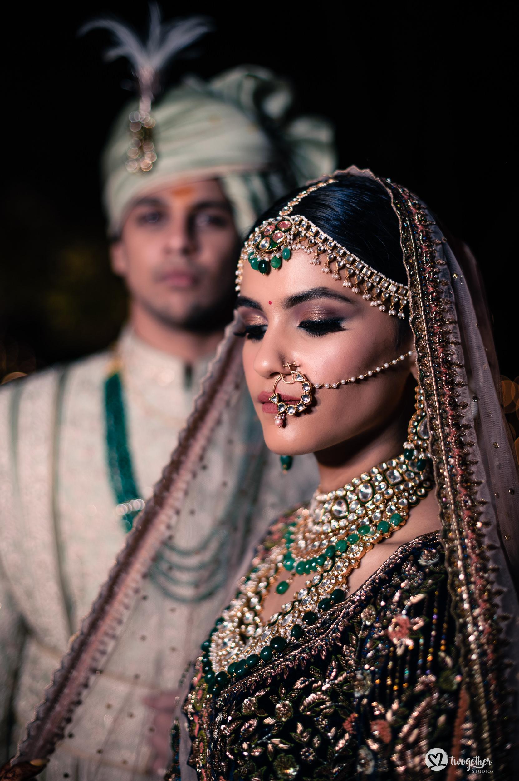 Indian couple portrait at Westin Sohna.