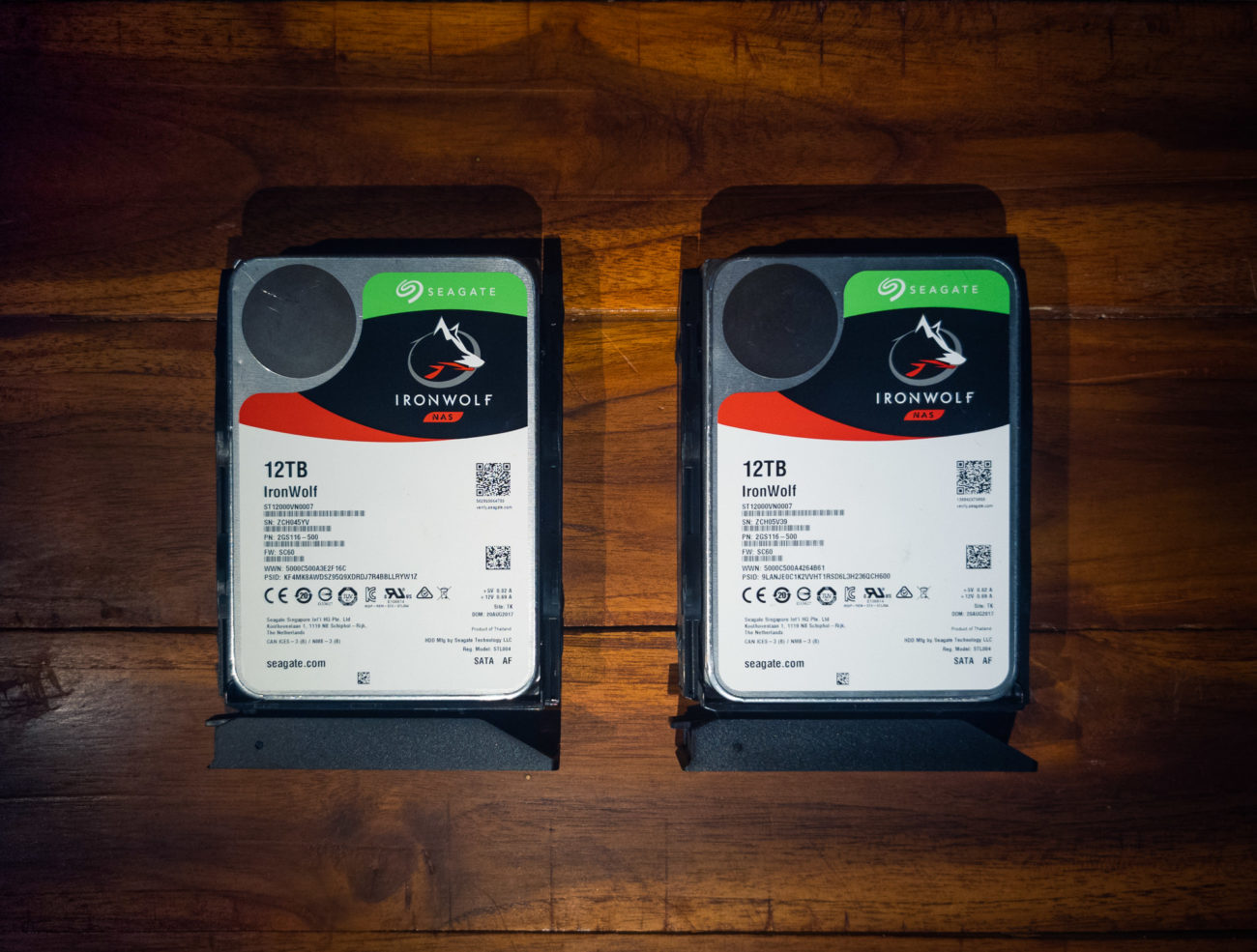 Synology NAS Seagate hard drives.
